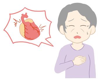 動悸 心臓付き 高齢女性(線無し)