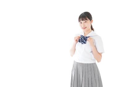 制服姿の女子学生ポートレート