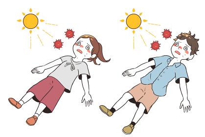 熱中症と新型コロナウイルスで目を回す