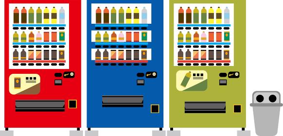 日本の自動販売機イラスト