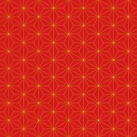 麻の葉模様 赤×黄 1