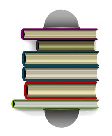 本・書籍とブックスタンド(本立て) 真上から見たイラスト