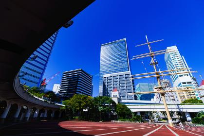竹芝埠頭から見た東京ポートシティ竹芝 【東京都の都市風景】