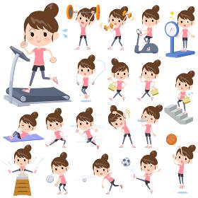 Bun hair mom sportswear_exercise
