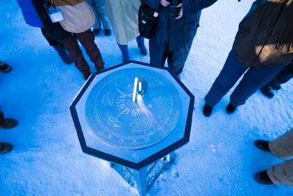 スピッツベルゲン島の最北端の日時計