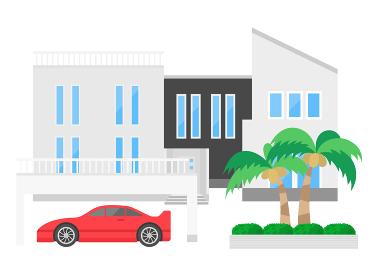 高級住宅のイラスト