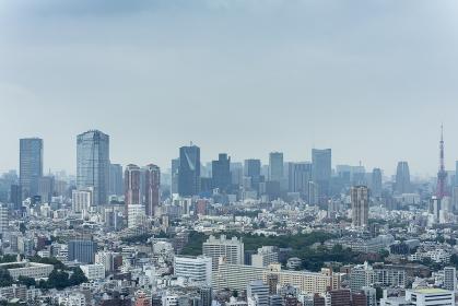 梅雨空の東京パノラマ