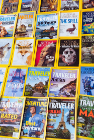 New York - MARCH 7, 2017: National Geographic on March 7 in New York, USA. National Geographic magazine is a popular US publication. New York - MARCH 7, 2017: National Geographic on March 7 in New