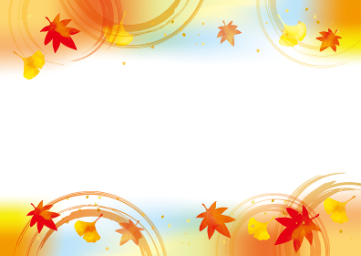 秋の紅葉の背景素材