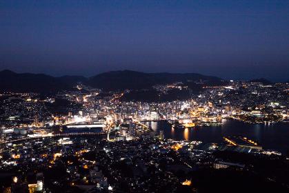 稲佐山から見た長崎市街地夜景 世界新三大夜景