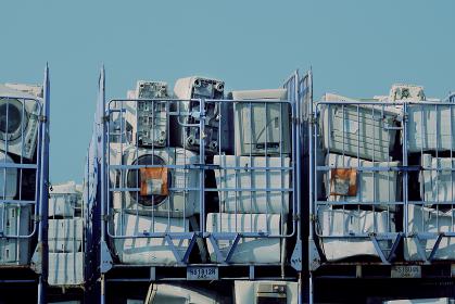 家電リサイクル施設の廃棄物