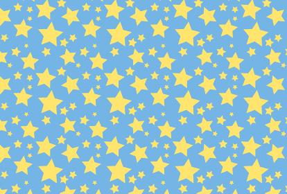 水色の星のシームレスの背景イラスト