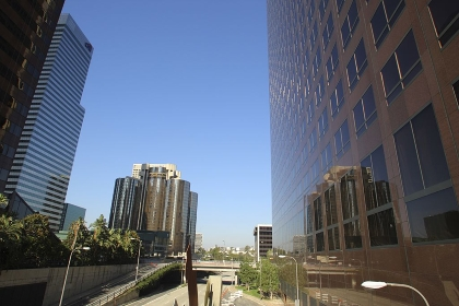 ダウンタウンの高層ビル群