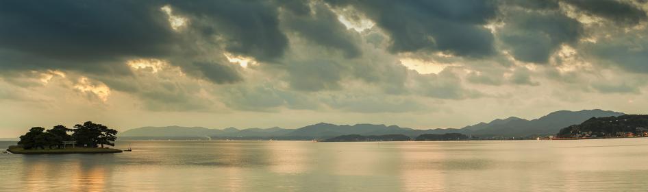 宍道湖 松江・島根県 パノラマ
