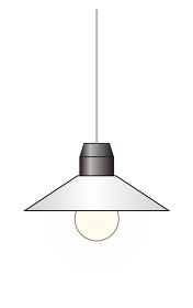 シンプルな吊り下げ照明のイラスト