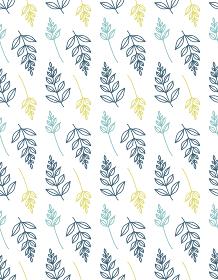 北欧風の植物のシームレスパターン