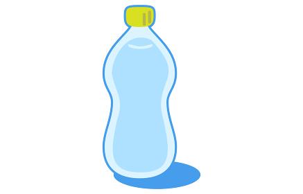 シンプルなペットボトルのイラスト