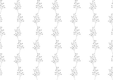 グレーの小枝と実のシームレスな背景イラスト 1