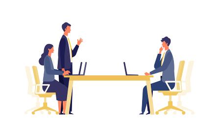 話し合うビジネスマンのイメージ