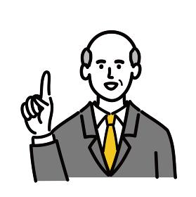 男性 シニア スーツ ベクター ポップ 提案 1