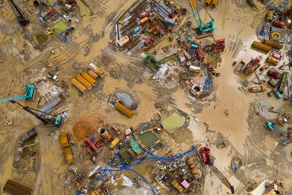 Tin Shui Wai, Hong Kong, 02 September 2018:- Construction site