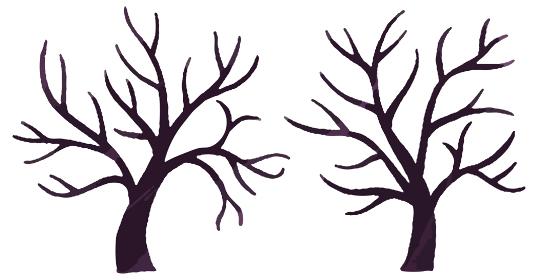木 枝 ハロウィン イラスト
