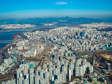 Beautiful architecture building in Seoul City