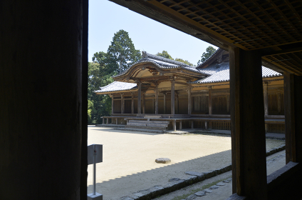 書写山円教寺 食堂から常行堂を望む 兵庫県姫路市