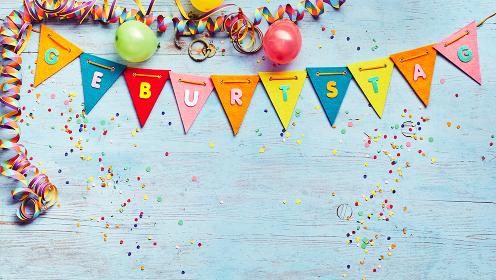 Geburtstag or Birthday party background