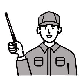 作業服 男性 若い 提案 棒 ポップ 手描き