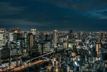 大阪の高層ビル群