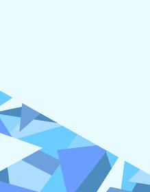 frame of geometric pattern on blue background