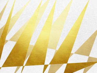 金色背景和柄テクスチャ-三角形