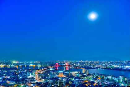 高塔山展望台から見る都市夜景