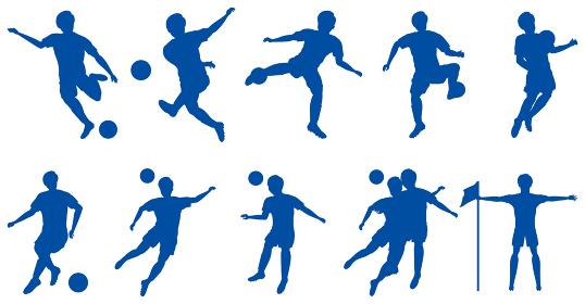 サッカー選手シルエットセット