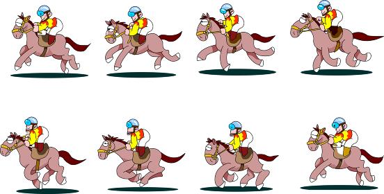走る馬のポーズ集