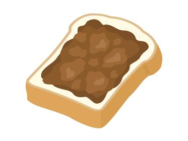 チョコレートを塗った食パンのイラスト