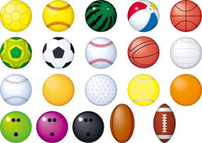 色々なスポーツのボールのセット