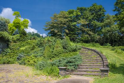 長野県・木島平村 やまびこの丘公園の風景