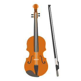 ヴァイオリンのベクターイラスト オーケストラ