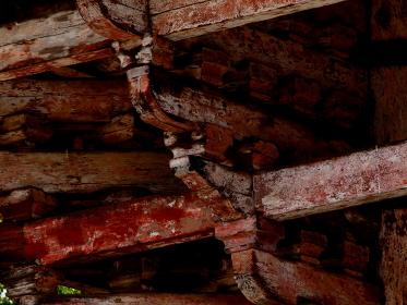 歴史的建造物の木組み