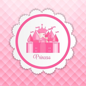 Princess  Background with Castle Vector Illustration EPS10. Princess  Background with Castle Vector Illustration