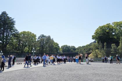 皇居外苑の観光客