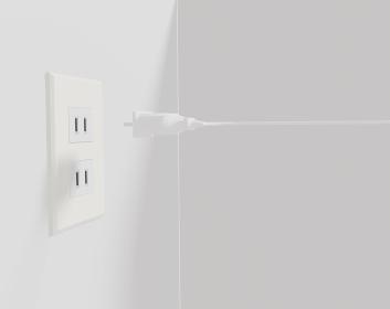 電気を繋げるコンセントと電源コード
