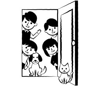 家族 二世代 ドア
