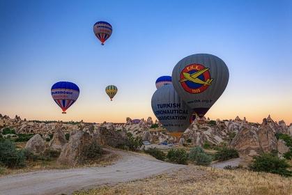 トルコ・カッパドキアの気球
