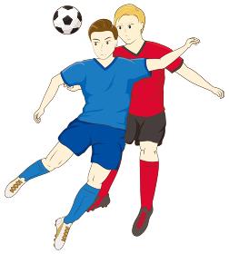 サッカーをする男性07