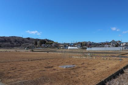 あきる野市小川の農業地域の風景(東京都)