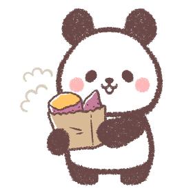パンダと焼き芋