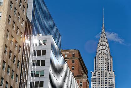 クライスラービル 青空 ニューヨーク